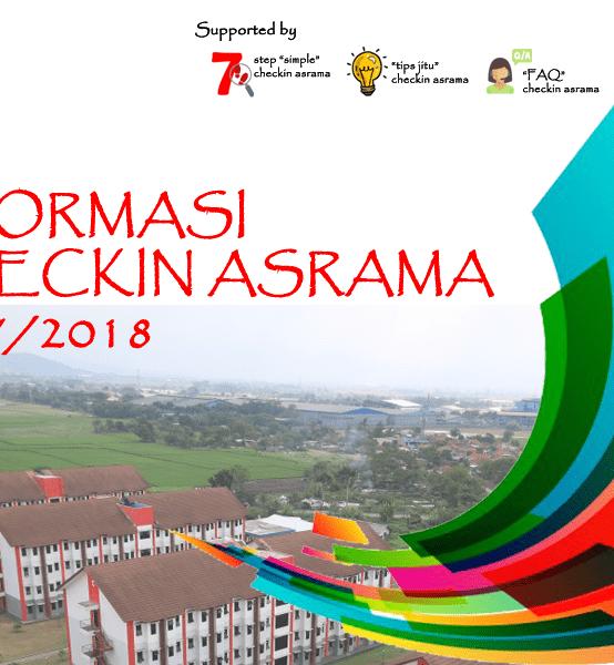 [INFO_CHECKIN2017] Jadwal Pelaksanaan Checkin Asrama 2017