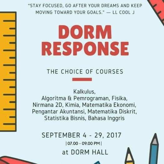 Dorm Response UTS Ganjil 2017/2018