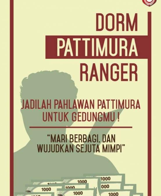 Dorm Pattimura Ranger 2017/2018