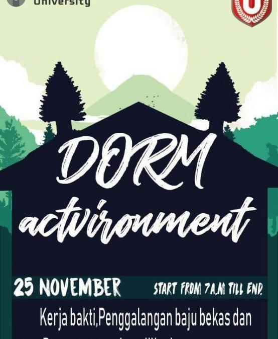 Dorm Actvironment Part 1 2018/2019