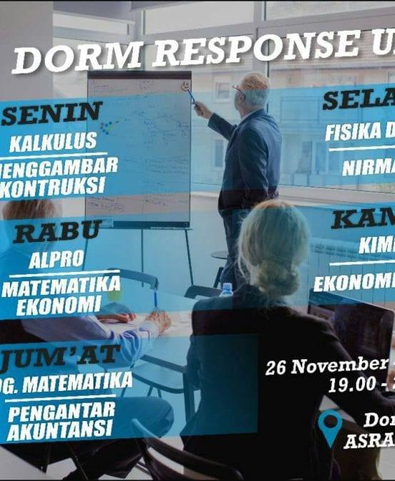 Dorm Response UAS 2018/2019 Ganjil